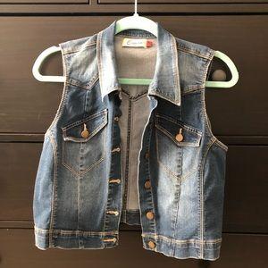 Other - Stretchy Denim Cropped Vest
